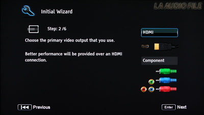Initial Wizard Screen 1