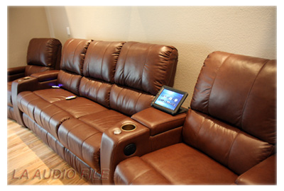 RTiPanel with Palliser Home Theater Seating